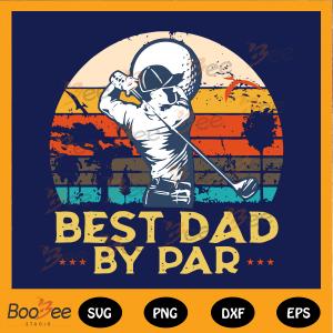 Best dad by par svg, golf best dad by par vintage svg, Fathers day