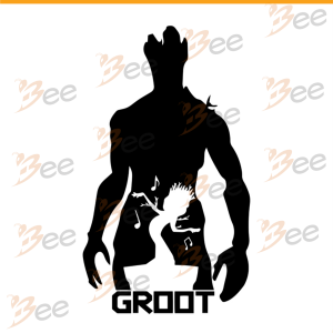 Groot silhouette, guardiansof the galaxy svg, Trending Svg, Disney