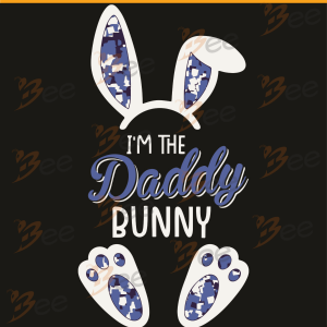 I Am The Daddy Bunny Svg, Father Day Svg, Happy Father Day, Bunny
