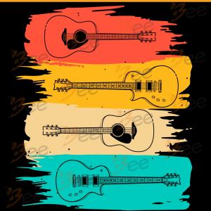 Vintage Guitar Svg, Trending Svg, Music Svg, Music Band Svg,