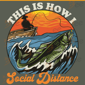 This Is How I Social Distance Svg, Trending Svg, Fishing Svg, Social