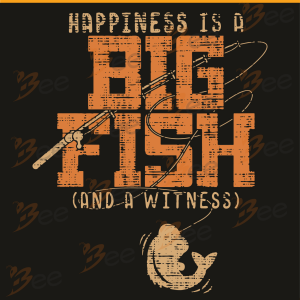Happiness Is A Big Fish Cand A Witness Svg, Trending Svg, Fishing