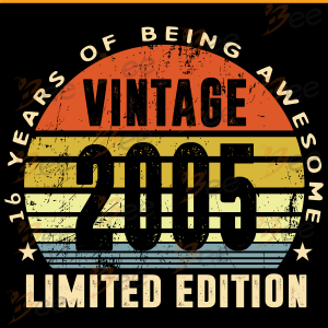 Vintage 2005 Limited Edition 16 Years Of Being Awesome Svg, Birthday