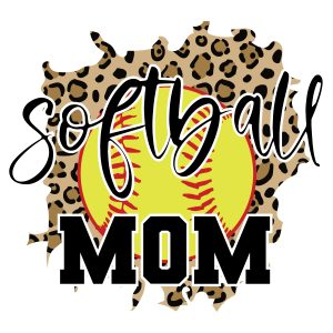 Leopard Softball Mom Svg, Sport Svg, Mom Svg, Softball Svg, Leopard