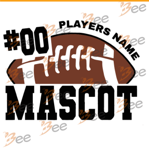00 Player Name Mascot Svg, Sport Svg, Football Svg, Rugby Ball