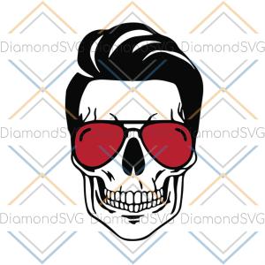 American cool skull svg, independence day svg, 4th of july svg, skull