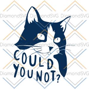 Could You Not Cat Svg Trending Svg, Cat Svg, Animal Svg
