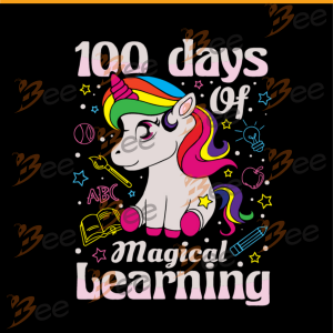 100 days of magical learning, unicron svg, back to school, hello