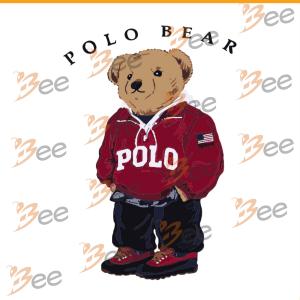 Polo Bear Svg, Bear Svg, Polo Bear Shirt Svg, Cricut File, Silhouette