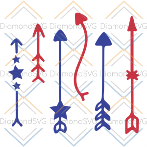 4th of july arrow svg, independence day svg, 4th of july svg, arrow