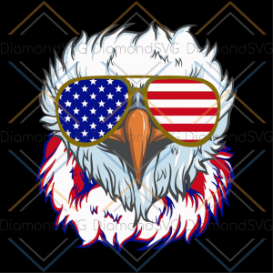 4th of july bald eagle sunglasses svg, independence day svg, 4th of