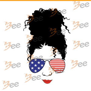 4th of july black girl with sunglasses svg, black girl svg, black