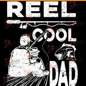 Reel Cool Dad Svg, Fishing Svg, Fishing Fathers Day Gift Svg, Fishing