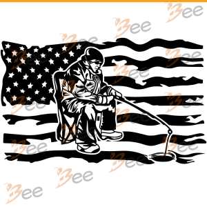 US Ice Fishing Svg, Fishing Svg, American Ice Fisher Svg, American