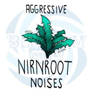 Aggressive Nirnroot Noises Svg, Flower Svg, Nirnroot Svg, Leaf Svg,