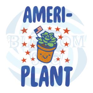 American Plants Svg, Flower Svg, Succulent Svg, American Flag Svg,