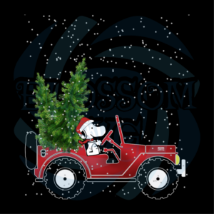 Car Christmas Svg, Vehicle Svg, Red Truck Svg, Snoopy Svg, Pine Tree