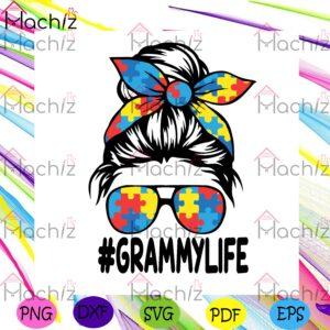 Autism Grammy Life Svg Autism Svg, Grammy Life Svg