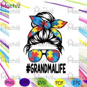 Autism Grandma Life Svg Autism Svg, Grandma Life Svg
