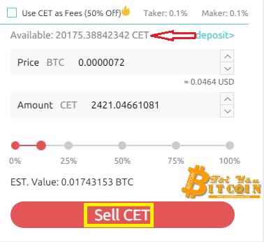 Cách mua bán coin trên sàn CoinEx. Ảnh 4