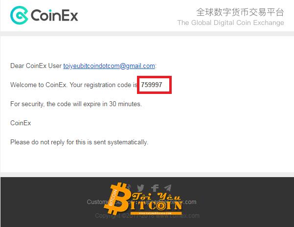Đăng ký tài khoản CoinEx. Ảnh 3