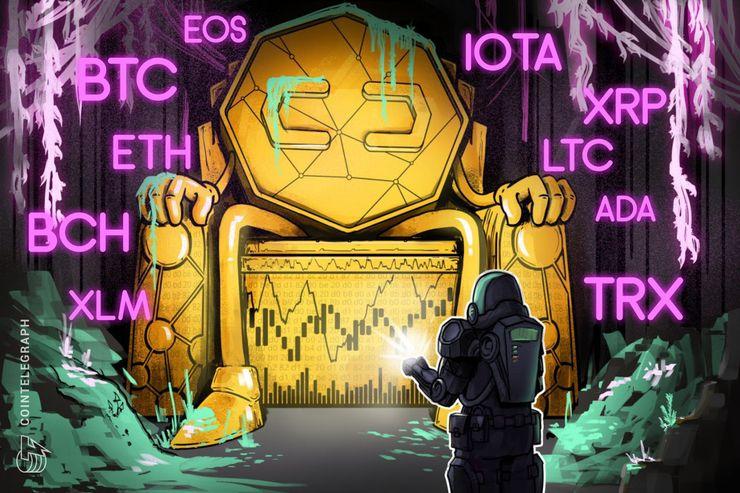 Phân tích thị trường 09/08: BTC, ETH, XRP, BCH, EOS, LTC, ADA, IOTA, XLM