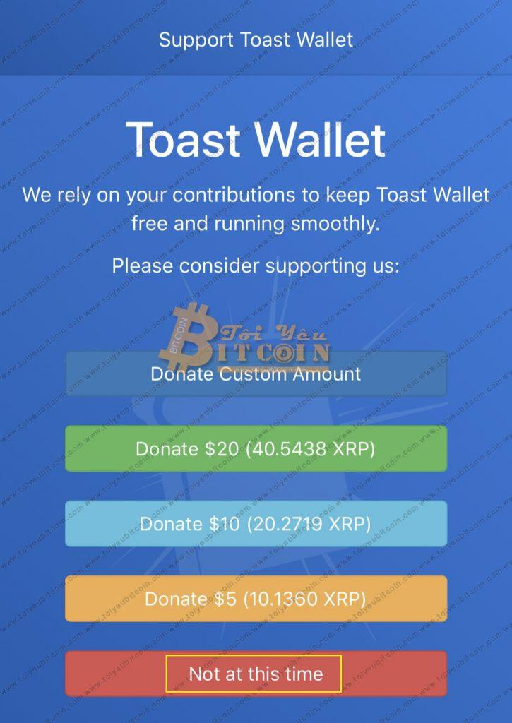 Sao lưu khôi phục ví Ripple trên Toast Wallet. Ảnh 5