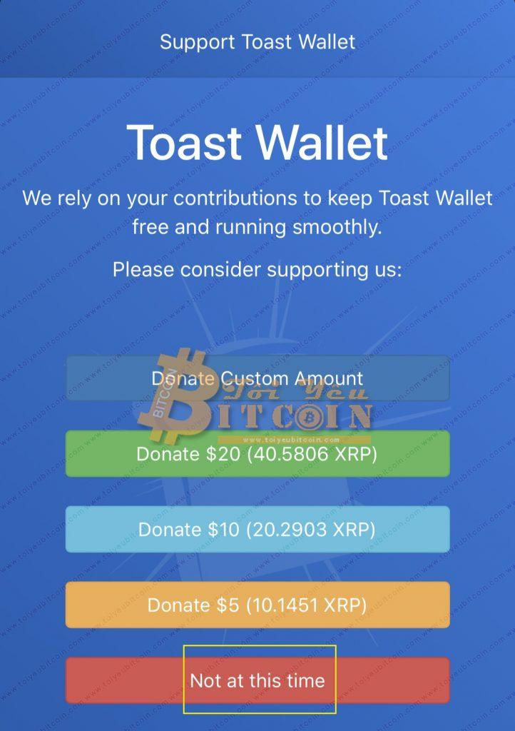 Cài đặt ví Toast Wallet trên điện thoại. Ảnh 7