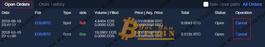 Mua bán coin trên OKEx. Ảnh 6
