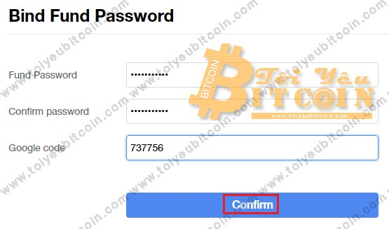 Thiết lập Fund Password trên OKEx. Ảnh 2