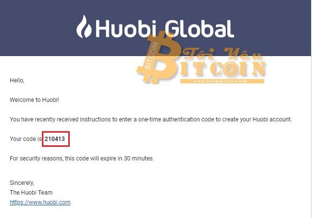 Đăng ký mở tài khoản Huobi. Ảnh 4