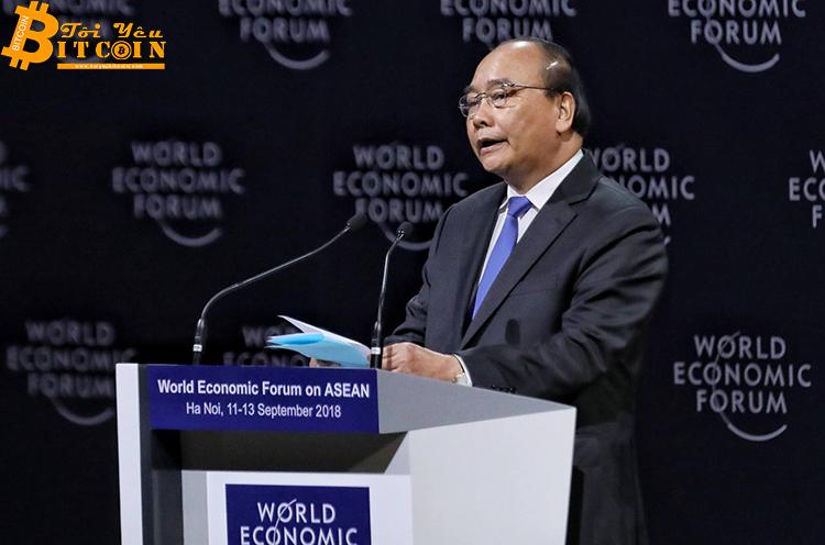 """Phiên họp """"Công nghệ của tương lai: Blockchain"""" đã diễn ra bên lề WEF ASEAN 2018 vào sáng 13.9.2018."""