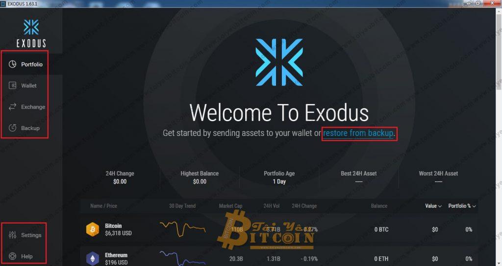 Tạo ví Exodus trên máy tính. Ảnh 4