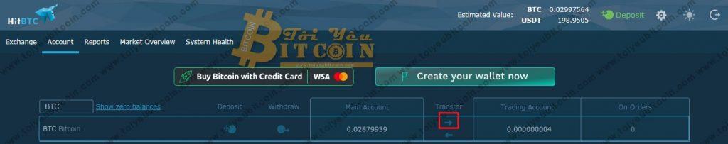 Mua bán Coin trên HitBTC. Ảnh 1