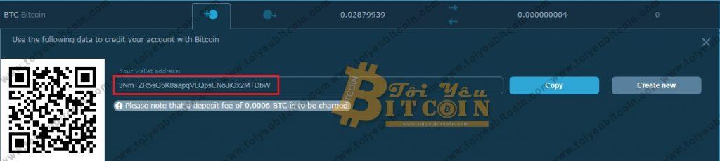 Nạp tiền vào HitBTC. Ảnh 2