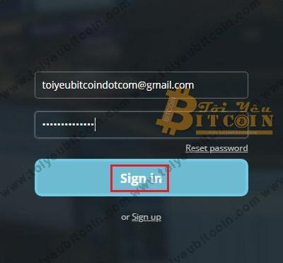 Đăng nhập vào HitBTC. Ảnh 2