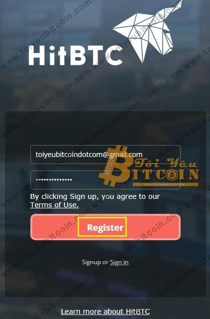 Đăng ký tài khoản HitBTC. Ảnh 2