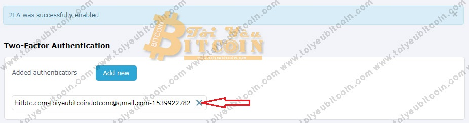Bảo mật tài khoản HitBTC. Ảnh 3