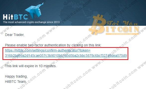 Bảo mật tài khoản HitBTC. Ảnh 2