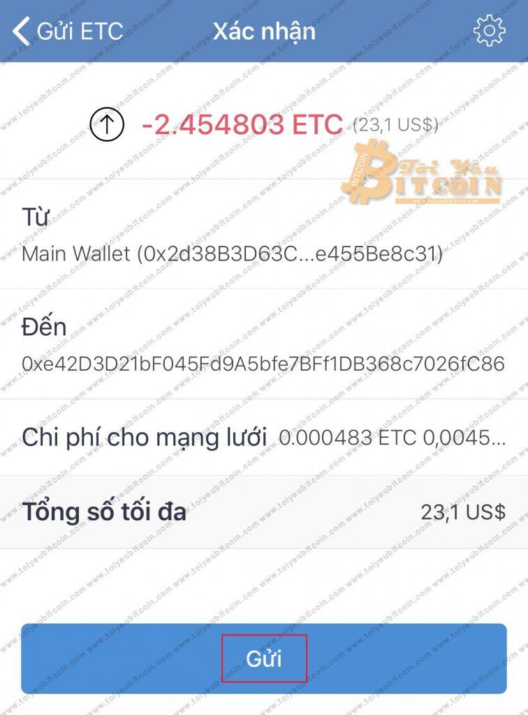 Rút tiền từ Trust Wallet. Ảnh 6
