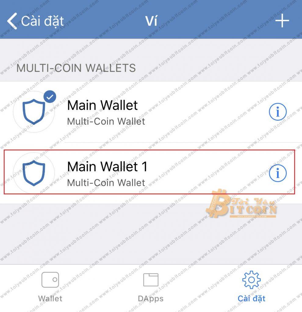 Tạo địa chỉ ví mới trên Trust Wallet. Ảnh 7