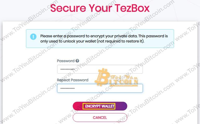 Tạo ví Tezos coin trên TezBox. Ảnh 5