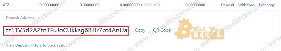 Cách rút tiền XTZ coin từ ví TezBox. Ảnh 2