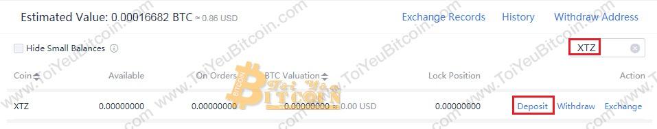 Cách rút tiền XTZ coin từ ví TezBox. Ảnh 1