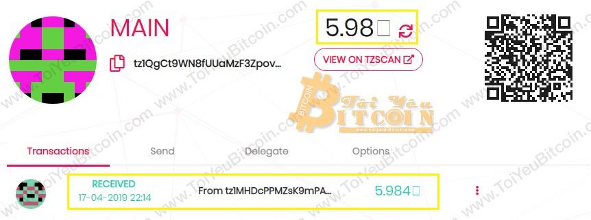 Cách nạp tiền XTZ coin vào ví TezBox. Ảnh 4