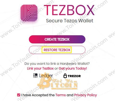 Khôi phục ví TezBox. Ảnh 2