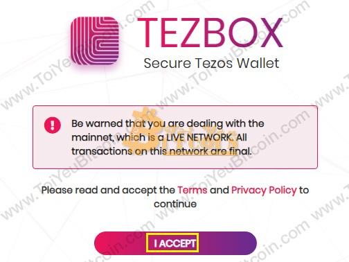 Khôi phục ví TezBox. Ảnh 1