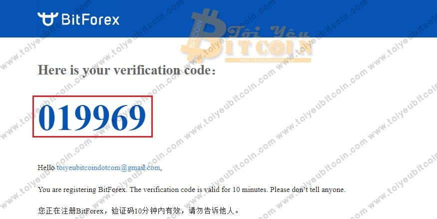 Đăng ký tạo tài khoản BitForex. Ảnh 4