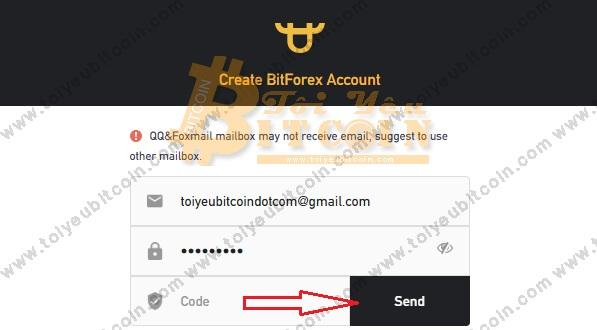Đăng ký tạo tài khoản BitForex. Ảnh 2