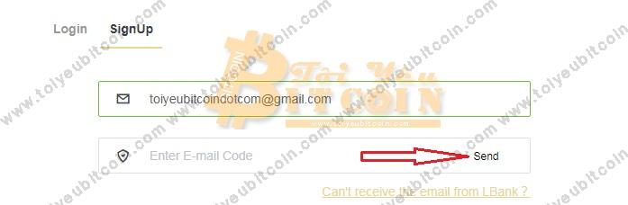 Đăng ký mở tài khoản LBank. Ảnh 1